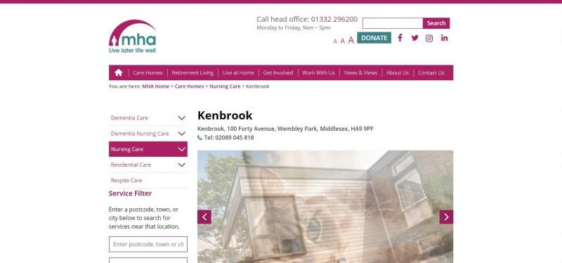 MHA Kenbrook - Residential & Nursing Care Home