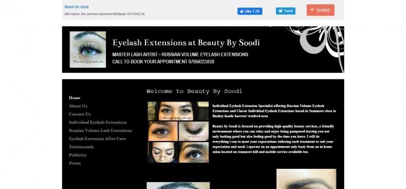 Eyelash Extensions at Beauty By Soodi