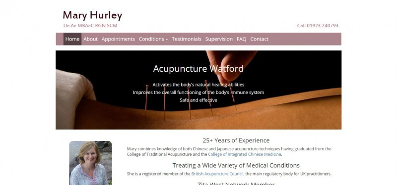 Mary Hurley - Acupuncture Watford