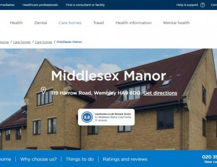 Middlesex Manor Care Home - Bupa