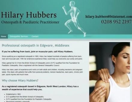 Hilary Hubbers Osteopath Edgware