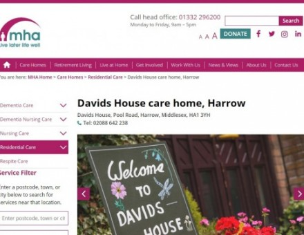 MHA Davids House - Residential & Dementia Care Home
