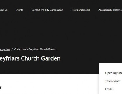 Christchurch Greyfriars Church Garden