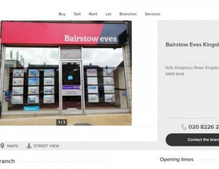 Bairstow Eves Estate Agents Kingsbury
