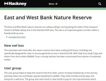 East & West Bank Nature Reserve