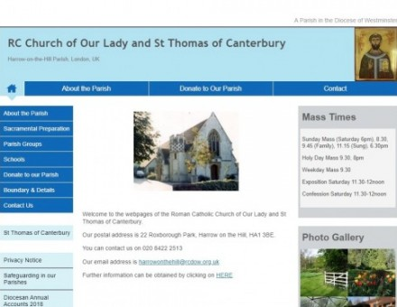 Our Lady and St Thomas of Canterbury, Harrow