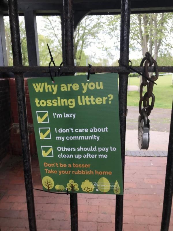 Harrow Weald Litter picker collection hub