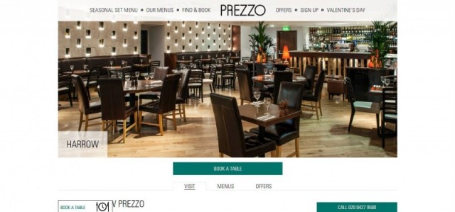 Prezzo Italian Restaurant Harrow
